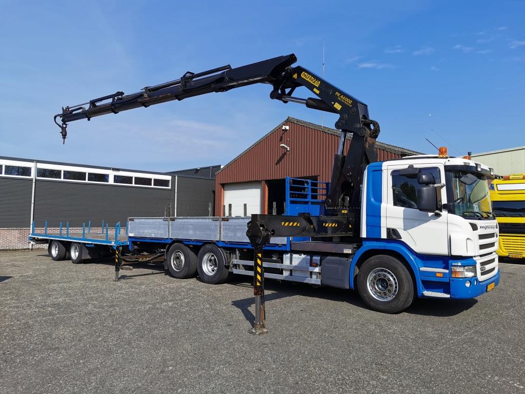 Scania P380 B 6X2/4 Euro4 met Palfinger PK440002-5 + 5e en 6e Functie met 2 assige Wipkar 01/2021 APK