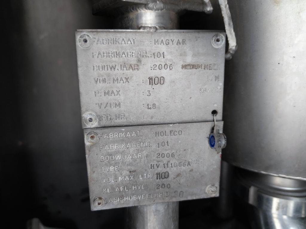 Magyar S43EBD ISOTHERMEIN MILKTANK 31.000L Sproeikoppen 09/2021 APK