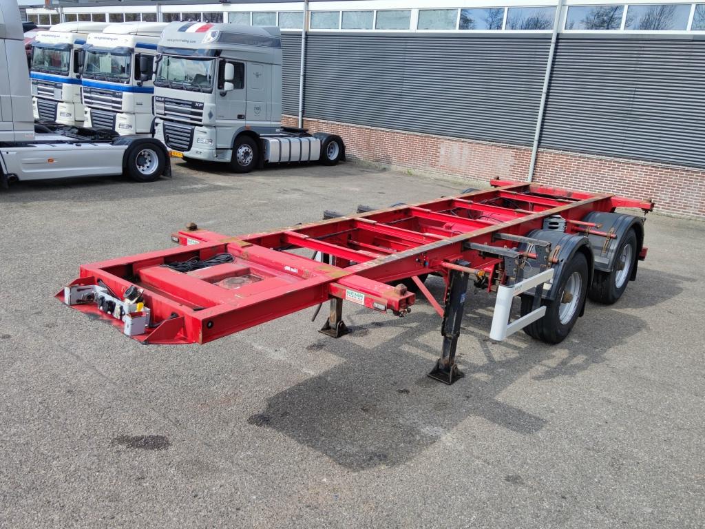 Lecitrailer 20FT BPW - 2 axle - Widespread - Steel Suspension