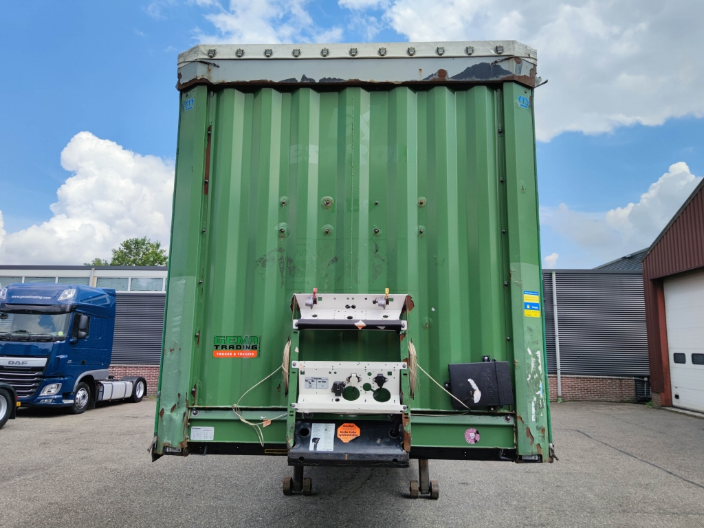 Krone SD - BPW-ecoplus - Schuifzeilen + Schuifdak - TUV XL Gardinne mit Alu Latten