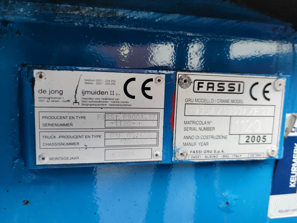 DAF CF 85.480 8x2/6 SpaceCab Euro3 - FASSI 1000AXP.27 -