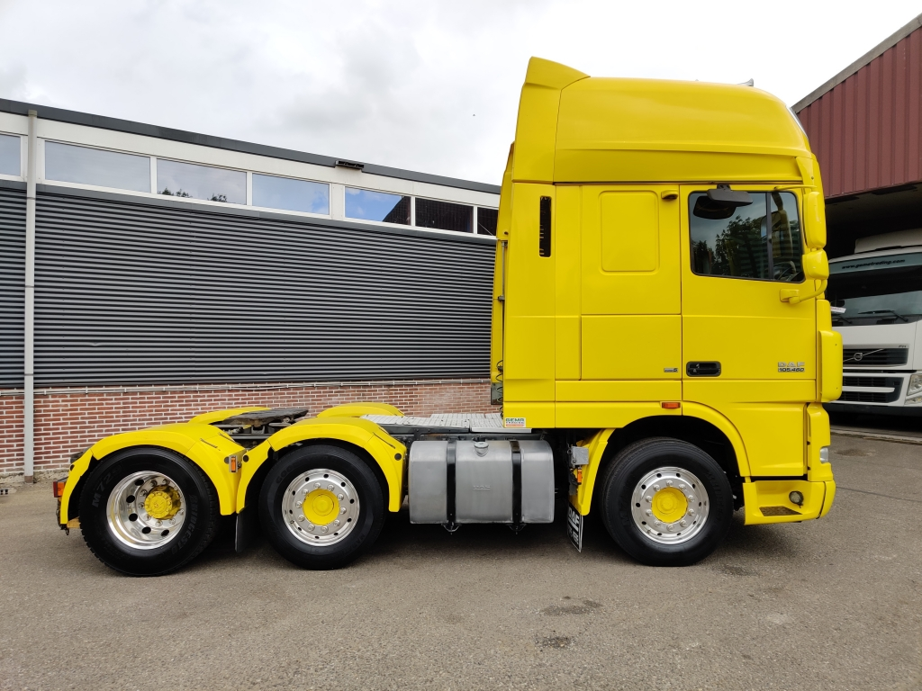 DAF  FTG XF105-460 6x2/4 SuperSpaceCab Euro5 - Standairco - Alcoa's - TOP!