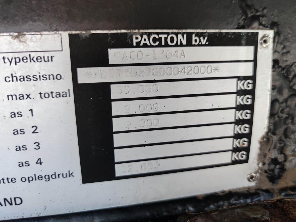 Pacton T2 001 - 2 Assige CITY 10.50M  - Trommelremmen - Stuur-As - Kooi-Aap Aansluiting