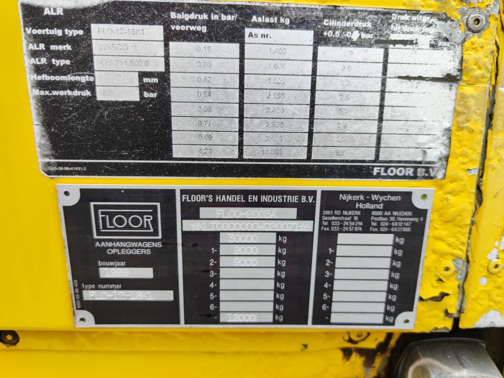 Floor FLO-12-18K1 - 2 BPW assen - Trommelremmen - 06/2022 APK