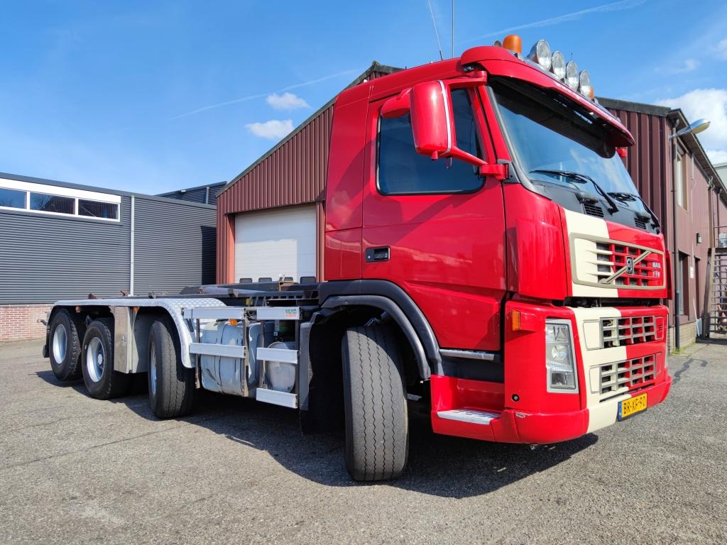 Volvo FM 440 8X2R Dagcabine Euro3 - 30TON Haakarmsysteem - Extra Hydrauliek + Kraan borging
