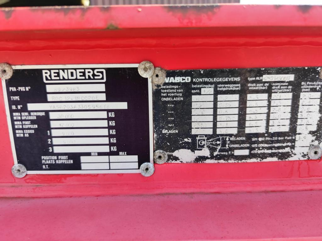 Renders ROC 12.18 2-assen SAF - Drumbrakes - Rust Free - 20FT