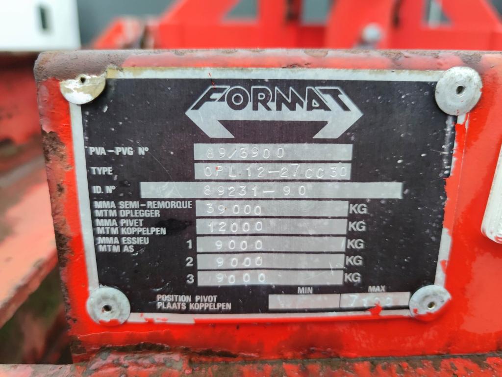 FORMAT KIEPCHASSIS 20/30FT TIPPER 3-assen SAF