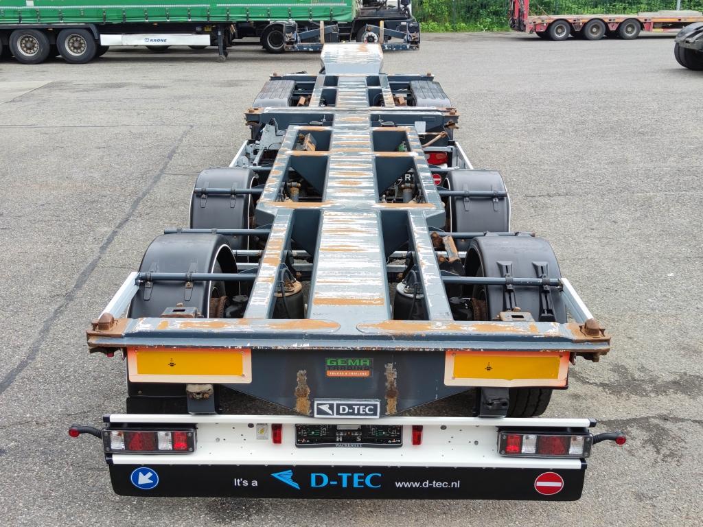 D-TEC D-TEC CT-51-04D + CT-35-02 - 2 + 2 COMBI chassis - 3 StuurAssen - 2 liftAssen - Gegalvaniseerd! Roest vrij! TOP!