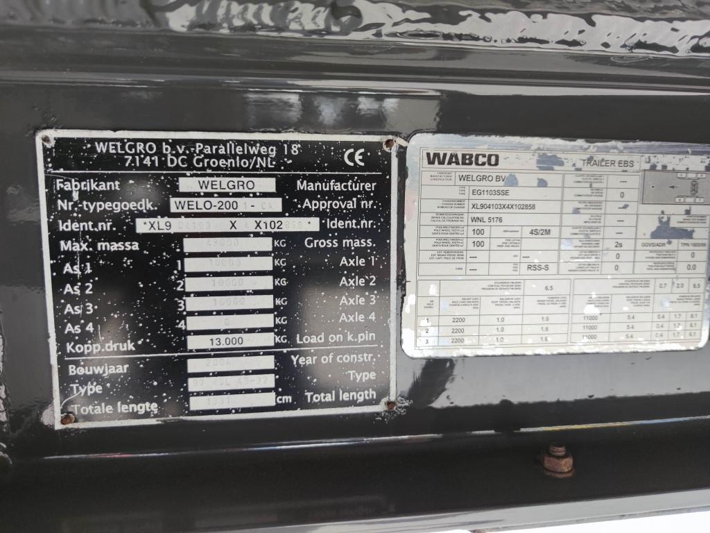 WELGRO 97WSL43-32 62m³ - Repainted - TOP!