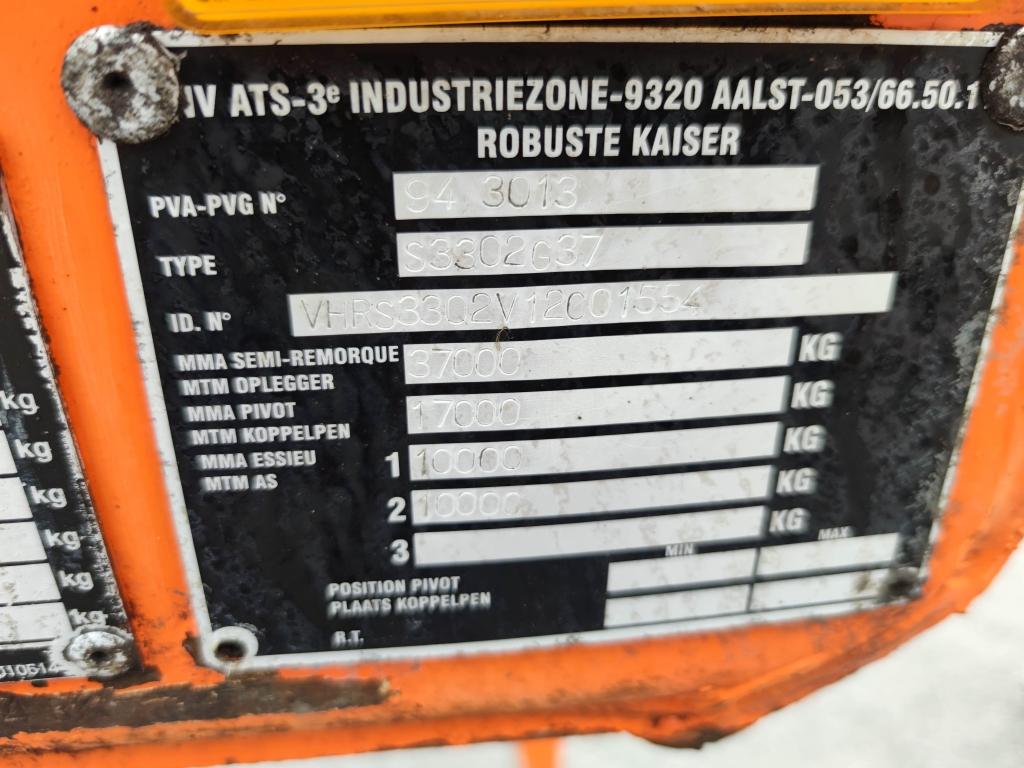 Kaiser S3302G37 - TIPPER - STEEL - DRUMBRAKES - 23 CUB