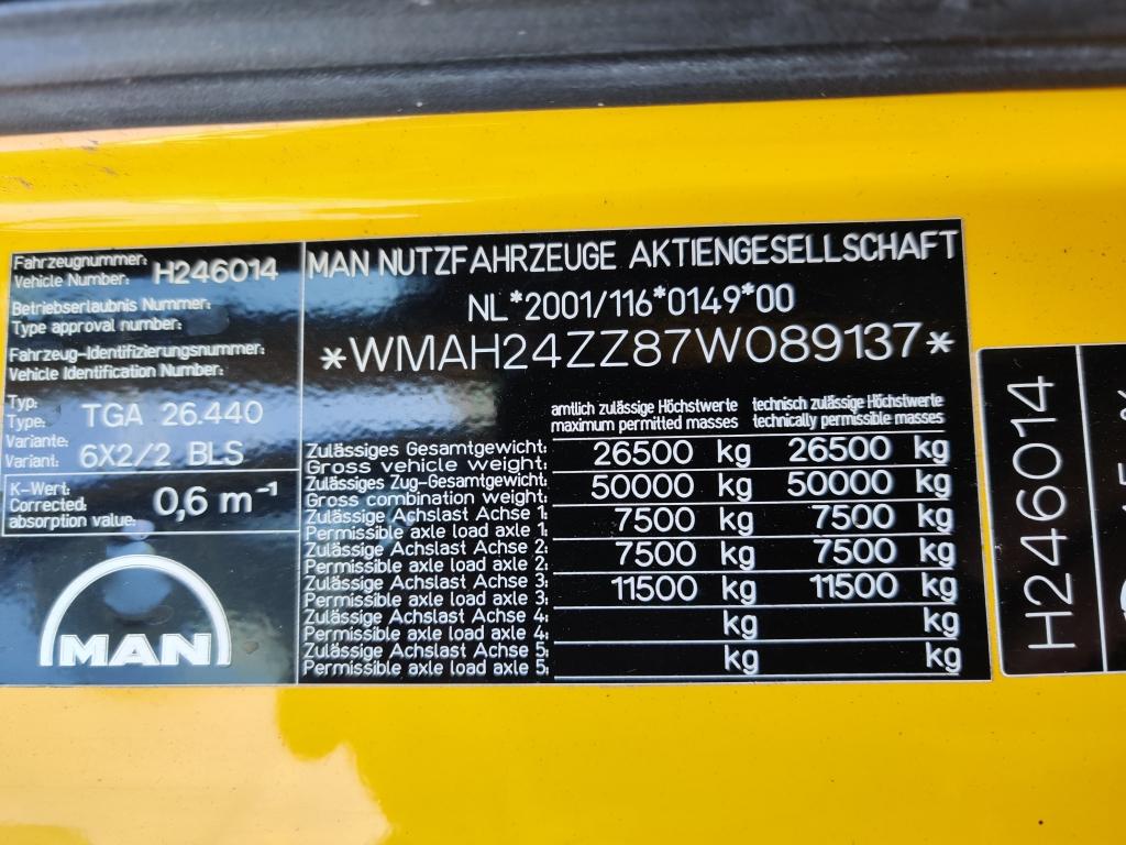 MAN TGA XLX 26.440  6X2/2 Euro 4 - TOP! - 4/2020APK