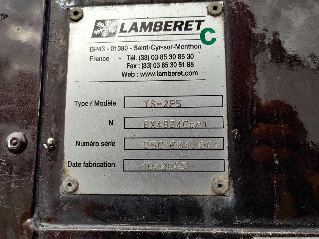 Pacton TBZ232 Lamberet 2-AS BPW city - 11.4m bak - Dhollandia 1500kg - 11/2020APK