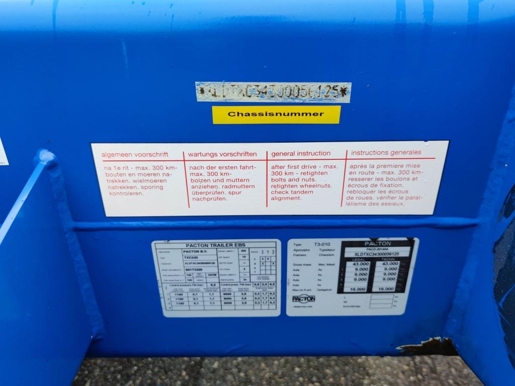 Pacton TXC.343 - MULTI - BPW assen - Alle soorten Container en 20FT TANK