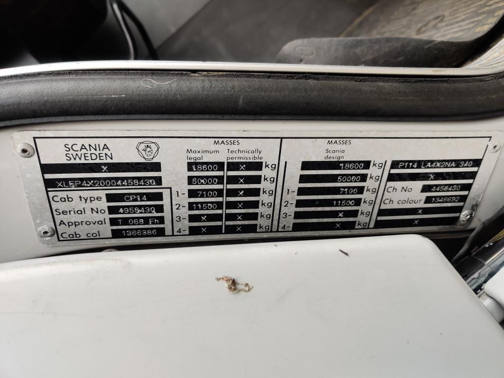 Scania P114  4X2 Euro3 DayCabin - Analoge Tacho - Manual Gearbox - Storage box - SpareTire