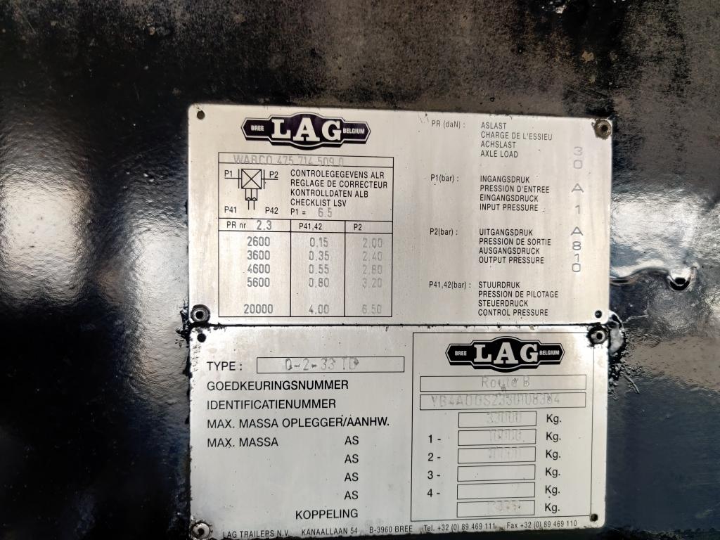 Lag O-2-33 CITY 11.5M 2 assen BPW - Stuur-as - Lift-as - Schijfremmen