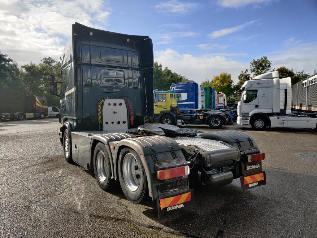 Scania R500 Topline 6x2 - 10 banden - Sleepas - Euro4 - Handgeschakeld - Metallic Groen - Schuifschotel