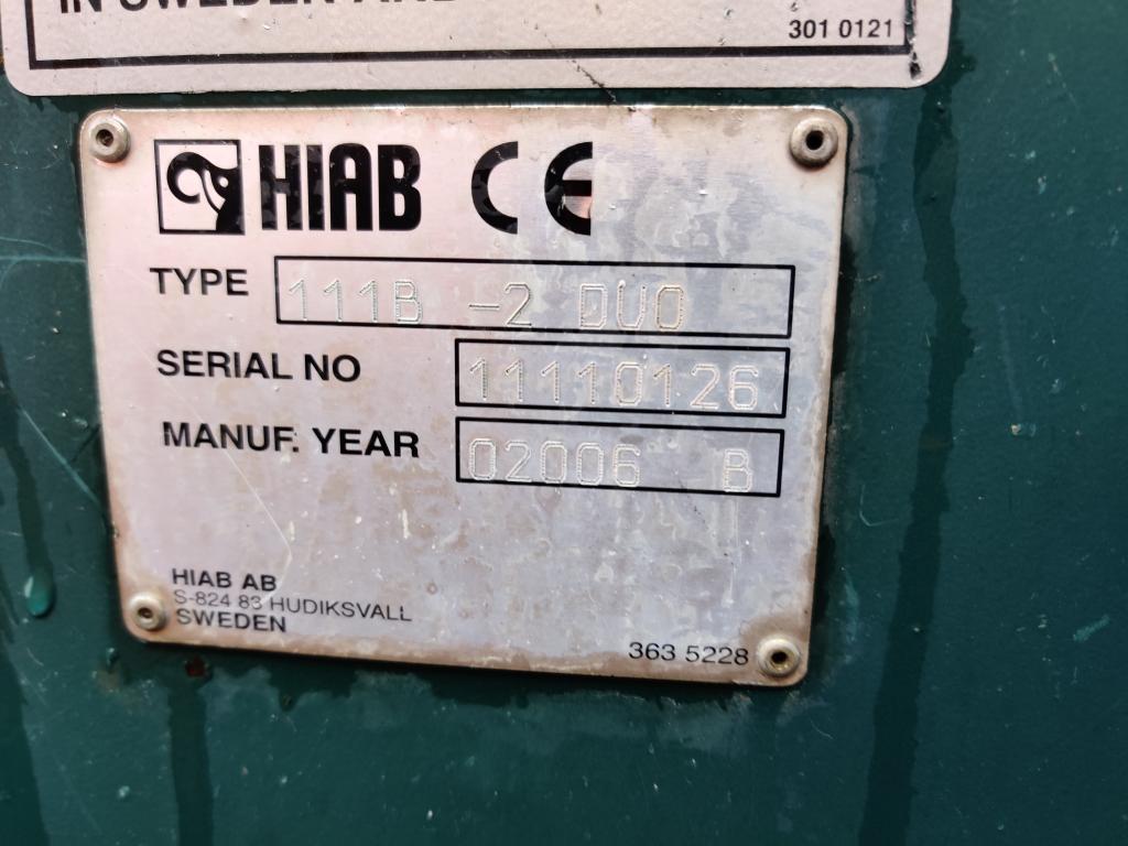 DAF CF 85.380 8x2/6 DagcabineEuro3 - Tipper - HIAB 111B-2 Duo - Cable system - Manual Gearbox